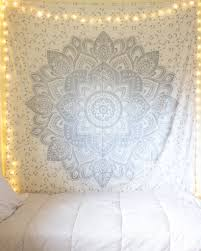 silver ombre king mandala tapestry