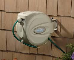 brilliant retractable garden hose reel wall mount best garden hose