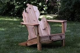 Chair With Beer Dispenser Michigan Shaped Adirondack Chairs Michirondack