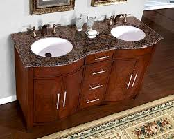 Granite For Bathroom Vanity Silkroad 58 Bathroom Vanity Brown Granite Top White Sinks
