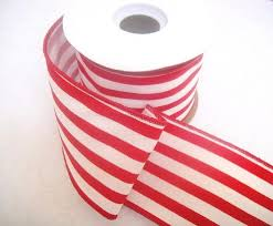 wired ribbon wired and white stripe ribbon 2 5 regal ribbons