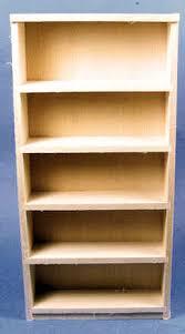 Unfinished Bookshelf Dollhouse Miniature Scale Unfinished Furniture