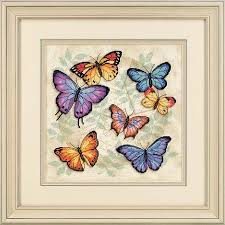 dimensions butterfly profusion cross stitch kit 35145