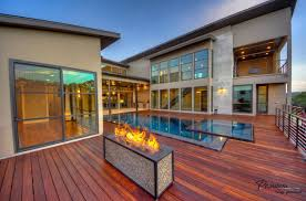 House With Swimming Pool Beautiful Villa With Swimming Pool And Wooden Deck Completed By