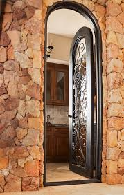 Interior Wall Designs With Stones by Door Arch Design Of Trustile Doors Matched With Natural Stone