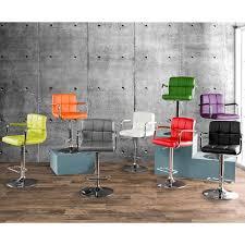 furniture of america corvelli height adjustable swivel leatherette