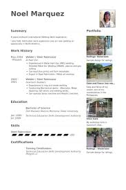Portfolio Resume Sample by Welder Resume Samples Visualcv Resume Samples Database