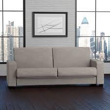 Linen Sleeper Sofa Handy Living Tempo Convert A Dove Grey Linen Futon Sleeper