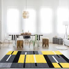 Modern Yellow Rug Modern Yellow Grey Modern Patchwork Rug For Living Room Soft