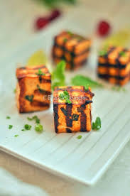 gluten free cubes foodelicious grilled chilli paneer cubes easy starter recipe