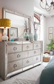 Silver Mirrored Bedroom Furniture Bedroom Furniture White And Gold Dresser Glam Headboard Glam