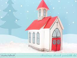 make a paper christmas church candy treat and cookie box youtube
