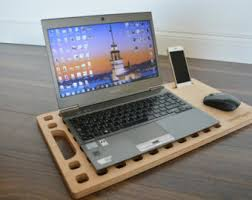 Laptop Desk With Speakers Desk Etsy