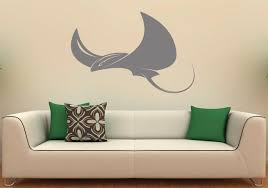 stingray wall decal fish vinyl sticker sea ocean home interior