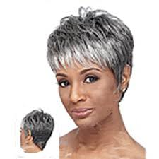 black women short grey hair buy hairjoy grey wig 2 tones black hair extension near me