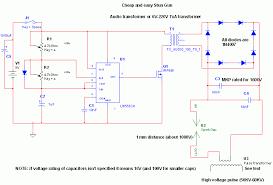 high voltage stun gun circuit diagrams schematics electronic