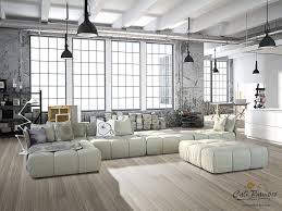 Wohnzimmer Modern Hell Grey Flooring Boardwalk Fossilized Wide Plank Bamboo Floors