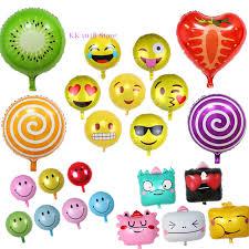 foil balloons custom aluminum foil balloon emoji decoration birthday balloons
