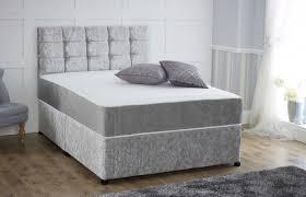 beds 2u direct online shop crushed velvet divan set with