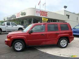 red jeep patriot 2007 inferno red crystal pearl jeep patriot sport 4x4 30036720