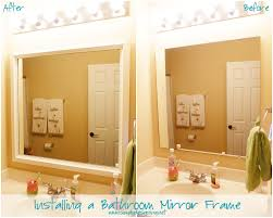 How To Make A Bathroom Mirror Frame Installing Bathroom Mirror Frames