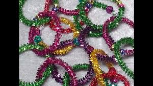 diy fun beaded christmas tree garland for the kids to make youtube