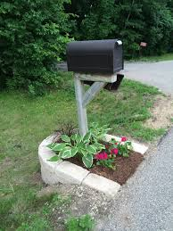 our mailbox recreated its no longer leaning and plain everything
