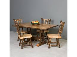 Hickory Dining Room Chairs Hickory Rustic Rectangular Solid Hickory Dining Table Becker