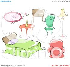 household furniture cartoon of household furniture royalty free vector clipart by