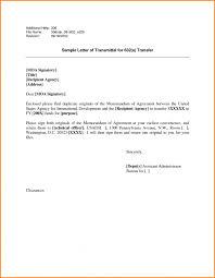 letter letter of transmittal example