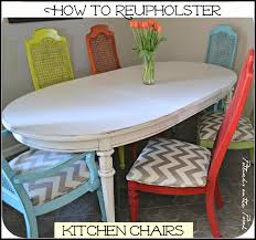 Reupholstering A Dining Room Chair Kitchen How To Reupholster Kitchen Chairs Decor Idea Stunning