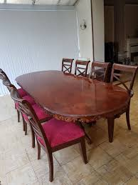 large dining table with 8 chairs in bradford west yorkshire
