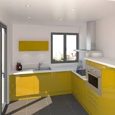 livraison cuisine ikea cuisine jaune curry au style pop implantation en l meuble