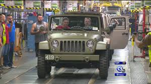 jeep wrangler military 75 year commemorative jeep wrangler rolls off toledo assembly line
