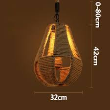 aliexpress com buy retro pendant lights hemp lamps country
