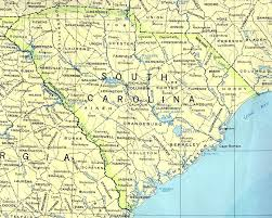 usa carolina map south carolina base map