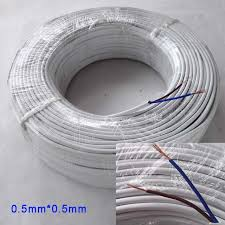 aliexpress com buy 2 pin brown and blue 0 5mm electrical wire