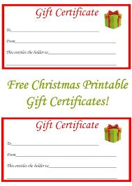 free christmas printable gift certificates free christmas gifts