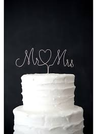 mrs and mrs cake topper mr and mrs wire cake topper david s bridal