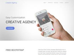free responsive one page bootstrap agency template with twitter