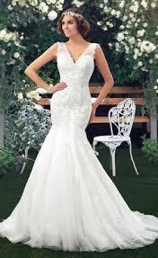 v neck wedding dresses sell v neck appliques beaded mermaid wedding dress online
