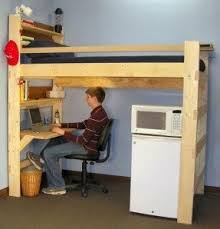 top bunk bed with desk underneath foter