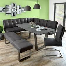 dining table with leather bench furniture brown back and wooden