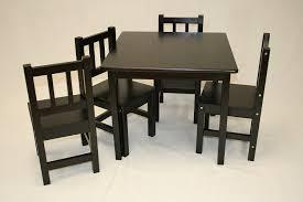amazon com ehemco kids table and 4 chairs set solid hard wood