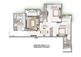 2bhk House Plans Lotus Boulevard Floor Plans
