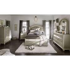 serena queen bed platinum american signature furniture