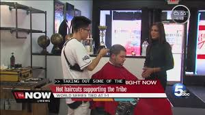 indians world series haircuts are blowing up online local barber