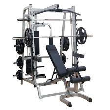Weights And Bench Package Body Solid Series 7 Smith Gym Package