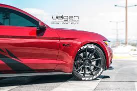 Black Red Mustang Ruby Red Mustang Gt On Velgen Wheels Velgen Wheels
