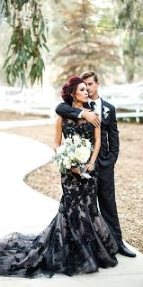 21 black wedding dresses with edgy elegance alternative